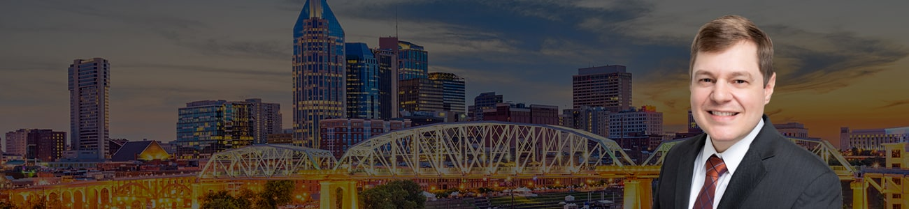 Nashville Tennessee Skyline and Attorney Photo